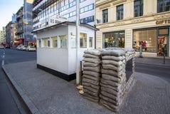 Checkpoint Charlie, Berlin, Niemcy obraz stock