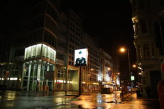 Checkpoint Charlie in Berlin at night Stock Photo