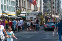 Checkpoint Charlie Berlin Royalty Free Stock Photo