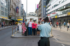 Checkpoint charlie Berlin Royalty Free Stock Photography