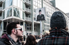 Checkpoint Charlie, Berlino Fotografia Stock