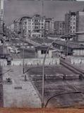 Checkpoint Charlie był ważnym blokadą drogi, biega od 1945 Zdjęcie Royalty Free