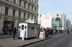 Checkpoint Charlie crossing point Berlin Stock Photos