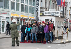 Checkpoint Charlie crossing point Berlin Royalty Free Stock Photography