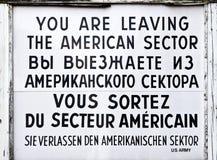 Checkpoint Charlie dziejowy znak zdjęcie royalty free