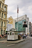 Checkpoint Charlie, Germany. Checkpoint Charlie in Berlin, Germany. The place marks the former border between East and West Berlin royalty free stock photo