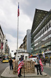 Checkpoint Charlie, Germany. Checkpoint Charlie in Berlin, Germany. The place marks the former border between East and West Berlin royalty free stock image