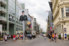 Checkpoint Charlie, Germany, Berlin Royalty Free Stock Photo