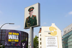 Checkpoint Charlie portrait Royalty Free Stock Photography