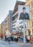 Checkpoint Charlie touristic attraction in Berlin Stock Images