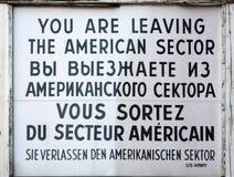 Checkpoint Charlie znak zdjęcia stock
