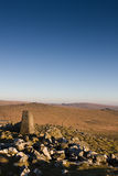 Checkpoint on Dartmoor. Marker at the top of the highest point in Dartmoor Stock Image