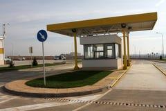 checkpoint Punkt kontrolny dla kontrola i przejścia Paszportowa kontrola Przepustki kontrola zdjęcia stock
