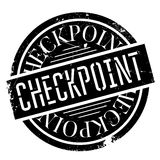 Checkpoint rubber stamp Stock Photography