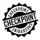 Checkpoint rubber stamp Stock Photos