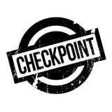Checkpoint rubber stamp Stock Image