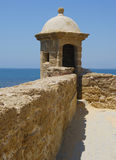 Checkpoint in Santa Catalina castle in Cadiz Royalty Free Stock Images