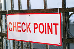 Checkpoint Sign. Photograph of a security checkpoint sign stock photography