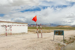 The checkpoint to mount Everest in Tibet Stock Photos