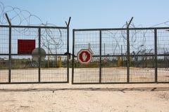 Checkpost da porta da beira de Palestina do israelita imagens de stock royalty free