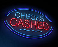 Checks cashed concept. Royalty Free Stock Photography