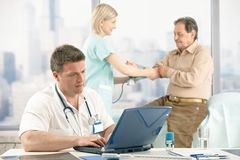 Checkup in doctor's office Royalty Free Stock Photo
