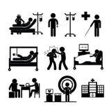 Checkup medical in hospital. Vector symbol cartoon Stock Photo