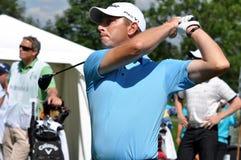 Checo abre 2010, conduciendo al jugador de golf stock de ilustración