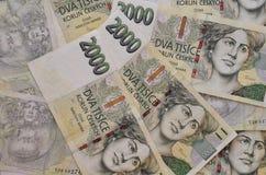 Checo coroa a moeda Foto de Stock Royalty Free
