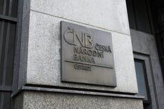 Checo National Bank Foto de Stock Royalty Free