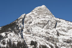 Checrouit seen from Courmayeur, Aosta Valley, Italy Royalty Free Stock Photos