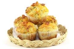 cheddar bekonowi muffins Zdjęcia Stock