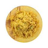 Cheddar Broccoli Rice Cooked Bowl Royalty Free Stock Image