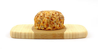 Cheddar Cheese with Almonds Royalty Free Stock Images
