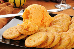 Cheddar cheese ball Stock Images
