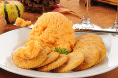 Cheddar cheese ball Royalty Free Stock Photo