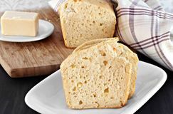 Cheddar cheese bread Stock Image