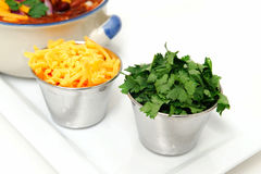 Cheddar Cheese And Cilantro Stock Photo
