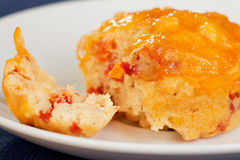 Cheddar cheese cornbread muffin Royalty Free Stock Photos