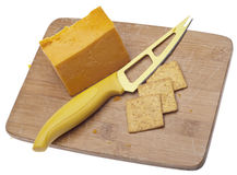 Cheddar Cheese and Crackers Royalty Free Stock Photography