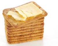 Cheddar Cheese and Crackers Stock Photography