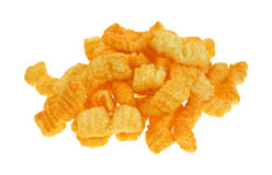 Cheddar cheese crispy snacks Stock Photography