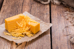 Cheddar Cheese (grated) royalty free stock images