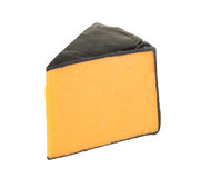 Cheddar cheese isolated on white background Stock Photo