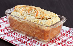 Cheddar cheese loaf of bread, freshly baked. Royalty Free Stock Photography