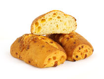 Cheddar cheese loafs Royalty Free Stock Photography