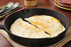 Cheddar cheese quesadillas Royalty Free Stock Photos