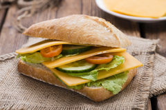 Cheddar Cheese Sandwich Royalty Free Stock Photos