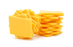 Cheddar cheese slices Royalty Free Stock Photography