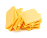 Cheddar cheese slices Royalty Free Stock Photos
